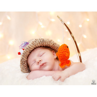 Cute Baby Sleeping With Toys Poster (BABY00041)