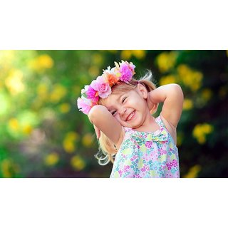 Navya Poster Of Cute Baby Girl With Flower Crown (BABY00081)