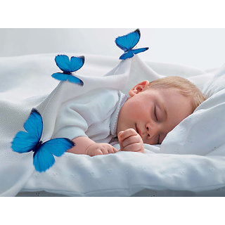 Cute Baby Sleeping With Butterfly Poster (BABY00048)