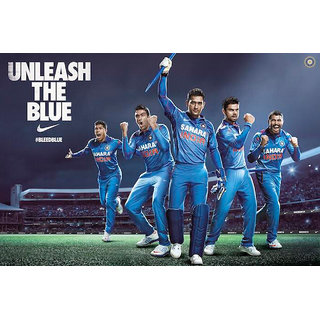 Team India Bleed Blue Poster (SPORTS00021)