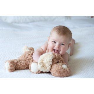 Cute Baby With Teddy Toy (CUTEBABY00009)