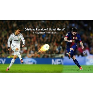 Navya Poster Of Cristiano Ronaldo And Lionel Messie- Soccer Star (SPORTS00068)