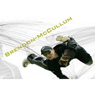 Brendom Mccullum Nz Poster (SPORTS00048)