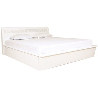 Alicia High Gloss King Bed With Hydraulic Storage