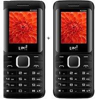 UNI 1.8 Inch TRIPLE Sim Multimedia Set Of Two Mobile (N3300)-Black  White