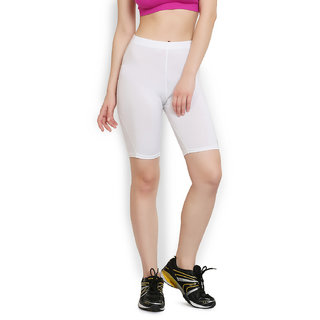 ARMR Unisex White Skyn Cycling Shorts (SKSH02)