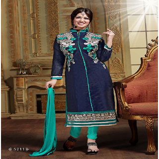 SaiBaba Collections Womens Unstiched Chanderi Silk Dress Material
