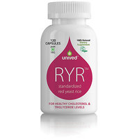 Unived RYR, Red Yeast Rice, 1200mg, 120 Veg Caps