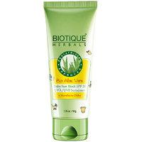 Bio Aloe Vera Baby Sun Block Spf 20 Uva/Uvb Sunscreen 6 Month Or Older 50 Gm