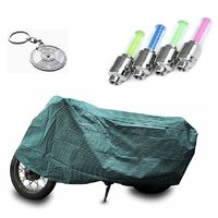 Bull Rider Bike Body Cover with Mirror Pocket for Canvas (Colour Canvas) + Free (Key Chain + Tyre LED Light) Worth Rs 250
