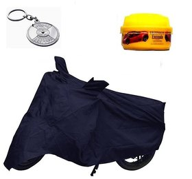 Bull Rider Brand Bike body cover with mirror pocket Waterproof for Honda Dream Yuga+ Free (Key Chain + Wax Polish) Worth Rs 250