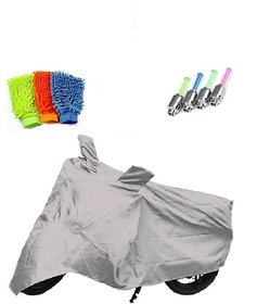 BRB Bike body cover with mirror pocket Water resistant for Bajaj Discover 125 DTS-i+ Free (Microfiber Gloves + Tyre LED Light) Worth Rs 250