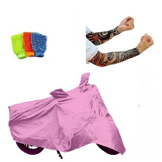 Bull Rider Brand Bike body cover with mirror pocket Custom made for Mahindra Flyte+ Free (Arm Tattoo + Microfiber Gloves) Worth Rs 250