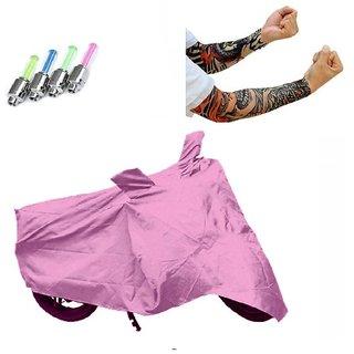 Bull Rider Brand Premium Quality Bike Body cover Water resistant for Hero Splendor i-Smart+ Free (Arm Tattoo + Tyre LED Light) Worth Rs 250