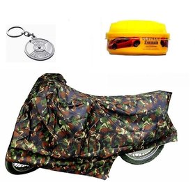 Bull Rider Brand Bike body cover without mirror pocket with Sunlight protection Hero Splendor Plus+ Free (Key Chain + Wax Polish) Worth Rs 250