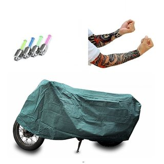 Bull Rider Brand Bike body cover with mirror pocket with Sunlight protection Piaggio Vespa S+ Free (Arm Tattoo + Tyre LED Light) Worth Rs 250