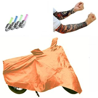 Bull Rider Brand Body cover without mirror pocket with Sunlight protection Hero Splendor Pro+ Free (LED Light + Arm Sleeves) Worth Rs 250