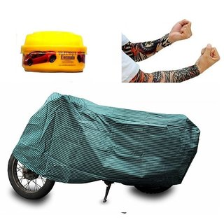 Bull Rider Bike Body Cover with Mirror Pocket for Canvas (Colour Canvas) + Free (Arm Tattoo + Wax Polish) Worth Rs 250