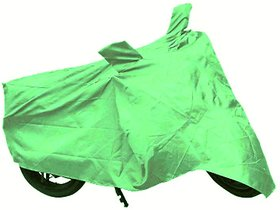 Bull Rider Bike Body Cover with Mirror Pocket for Suzuki Gixxer (Colour Light Green)