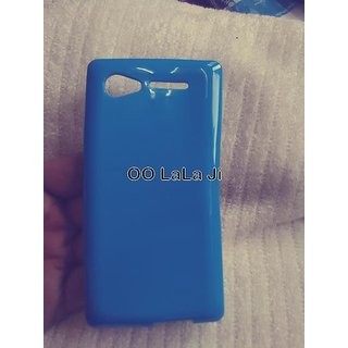 Nice Look Glossy PREMIUM Back Cover For Lava Iris 465 skt blue