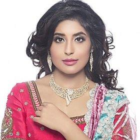 Sukkhi Kritika Kamra Sleek Gold Plated Ad Stone Necklace Set