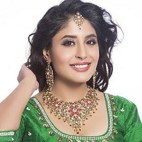 Sukkhi - Kritika Kamra Trendy Gold Plated Australian Diamond Wedding Necklace Set