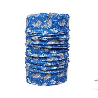 Sushito Pollution Free Blue Stylish Bandana For Women JSMFHMA0586
