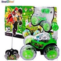 Stealodeal Ben 10 Remote Stunt Car(Green)
