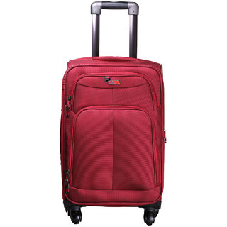 F Gear Crystal Red Expandable Cabin Luggage - 20 inch