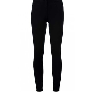 Black Cotton Lycra Legging XL