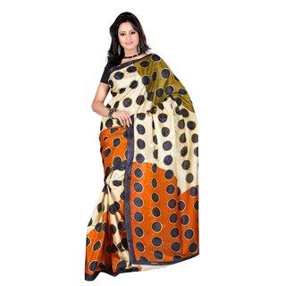 Kajal Sarees Black Art Silk Printed Saree With Blouse