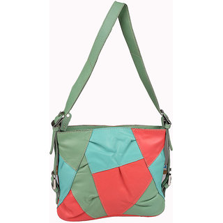 Glety Multi Colour Leather Sling Bag