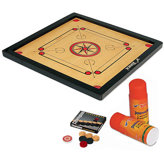 Vinex Carrom Board Set - Super (Medium Size, With 1.5 Border)