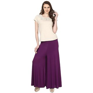 Skyline Trading Purple Casual Palazzo Trousers (SkylineCSDPLZOA9)
