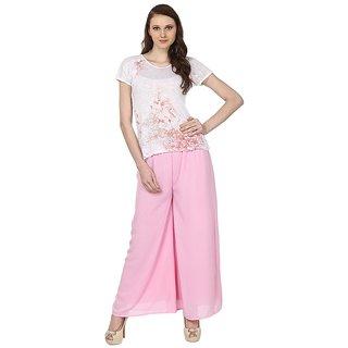 Skyline Trading Pink Casual Palazzo Trousers (SkylineCSDPLZOC12)