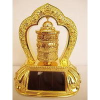 Buddhist OM MANI Prayer Wheel (Solar), Prayer Wheel , Tibetan Prayer Wheel