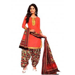 Women Shoppee Geometric Print Cotton Patiala with Golden Laces