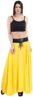 Ektara Womens Yellow Long Skirt