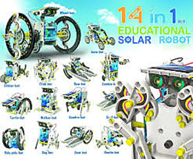 14-in-1 Solar Robot Kit / 14 in 1 Solar DIY Robot Toy