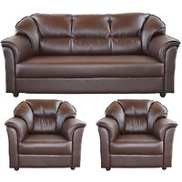 Gioteak Manhattan 3+1+1 Sofa in Brown