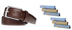 iLiv Casual Cum Formal Brown Belt  Colour Hanky
