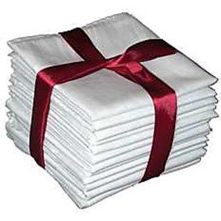 iLiv White Handkerchiefs For Men - 6 Pcs