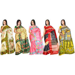 Subhash Daily Wear Multicolor Art Silk Combo Sarees
