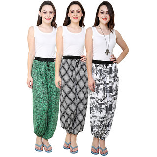 Grand Bear Multicolor Printed Women Harem Pant Set Of 3 (GBWPL-06-07-08)