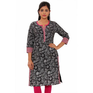Vasavi Premium Quality Black Colour Cotton Kurti VJKMSN118