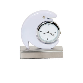 Table Clock Dolphin White