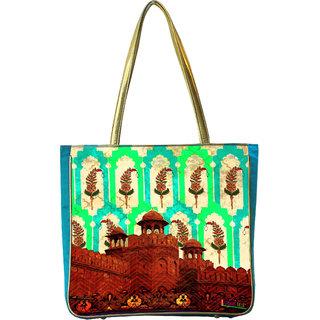 Classic Silk Red Fort Handbag
