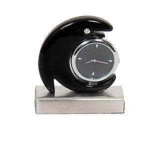 Table Clock Dolphin Black
