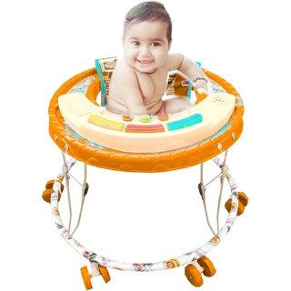 suraj baby orange color musical walker for your kids se-w-50