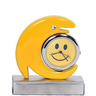 Dolphin Table Clock Smiley Yellow